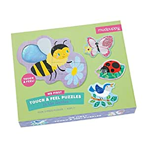 Mudpuppy In The Garden My First Touch & Feel Puzzle (12 Piece)