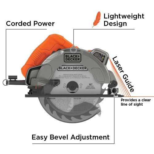 Black decker bdecs300c 13 amp circular saw with laser amazon keyboard keysfo Images