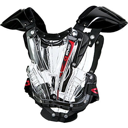 EVS Youth Vex Chest Protector-Clear/Black by EVS