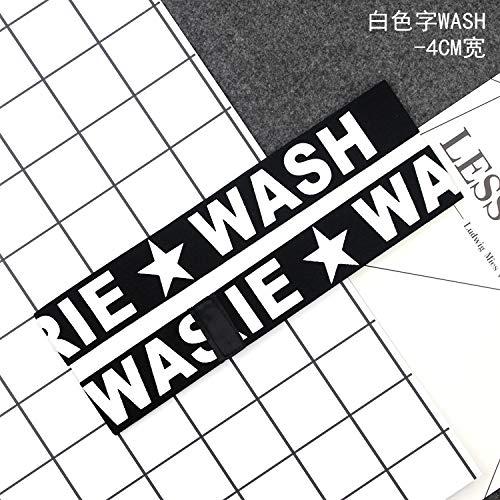 Korean Alphabet wash Hair Hair Hoop Men Man Sports caps caps Influx Women Running Sweat Headband Headdress Women Gift (Milky White wash-4cm