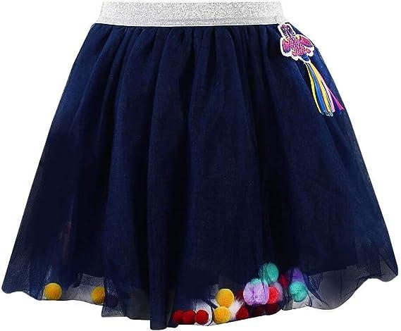 Billieblush U13188 - Falda de tul con pompón para niña, color azul ...