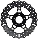 EBC Brakes FSD012CBLK Black Chrome Full Floating Contour Rotor by EBC Brakes