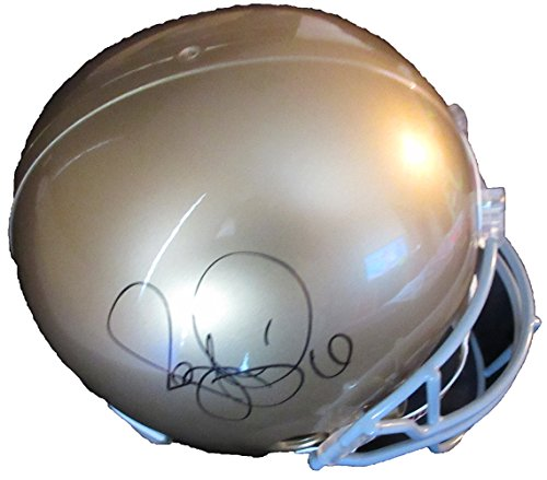 Jerome Bettis Autographed Notre Dame Fighting Irish Full Size Helmet W/PROOF, Picture of Jerome Signing For Us, Notre Dame Fighting Irish, Pittsburgh Steelers, Super Bowl Champion