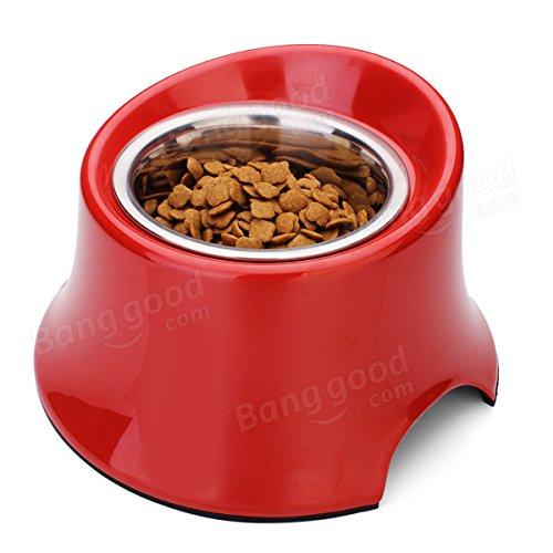 Bazaar DB-07 Pet Bevel High Bowl Stainless Steel Dog Bowl