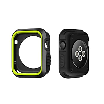 Funda para Apple Watch 42mm Carcasa para iWatch Series 1 / 2 / 3, IvyLife Funda Protector de Pantalla de Apple Watch 1 / 2 / 3, Cubierta del Caso ...
