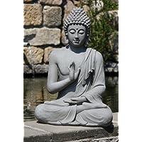 Stone-Lite Figura de Buda Sentado con Gesto