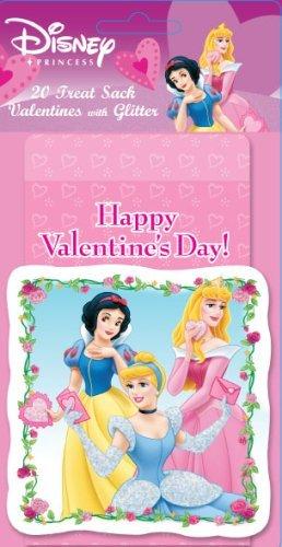 Disney Princess Valentine Treat Sack W/glitter Card (20 Treat Sack)