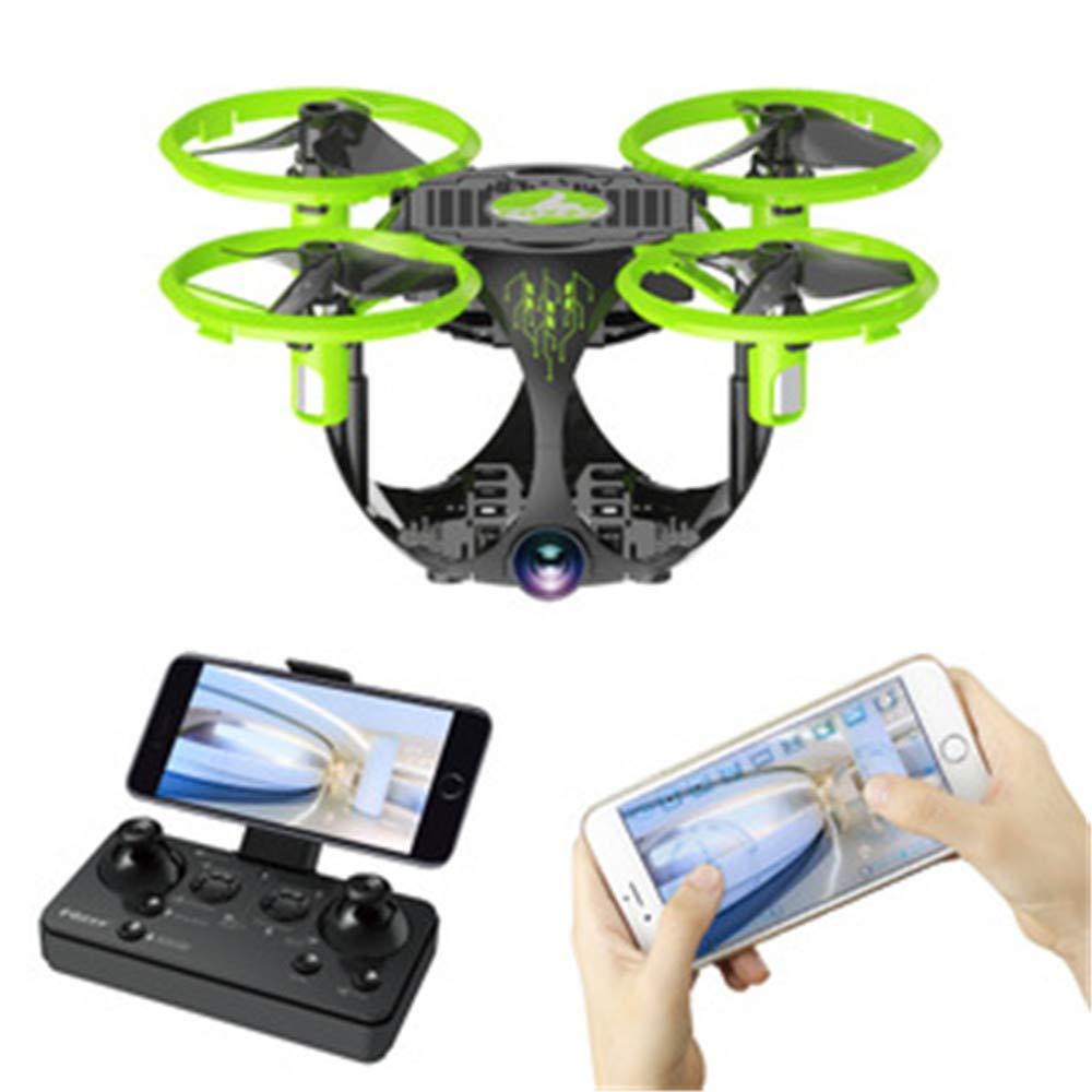 TONGTONG Drohne, Remote Quad-Achsen Flugzeug, mit 720P HD-WiFi Live-Video-Wisch-Kamera Auto-Hover-Höhe halten 3D-Flip-Headless-Modus