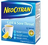 NeoCitran Cold & Sore Throat, Original Night Formula Lemon Flavor - 10 Count