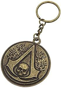 Assassin's Creed IV 4 Black Flag Skull Crest Logo Metal Keychain
