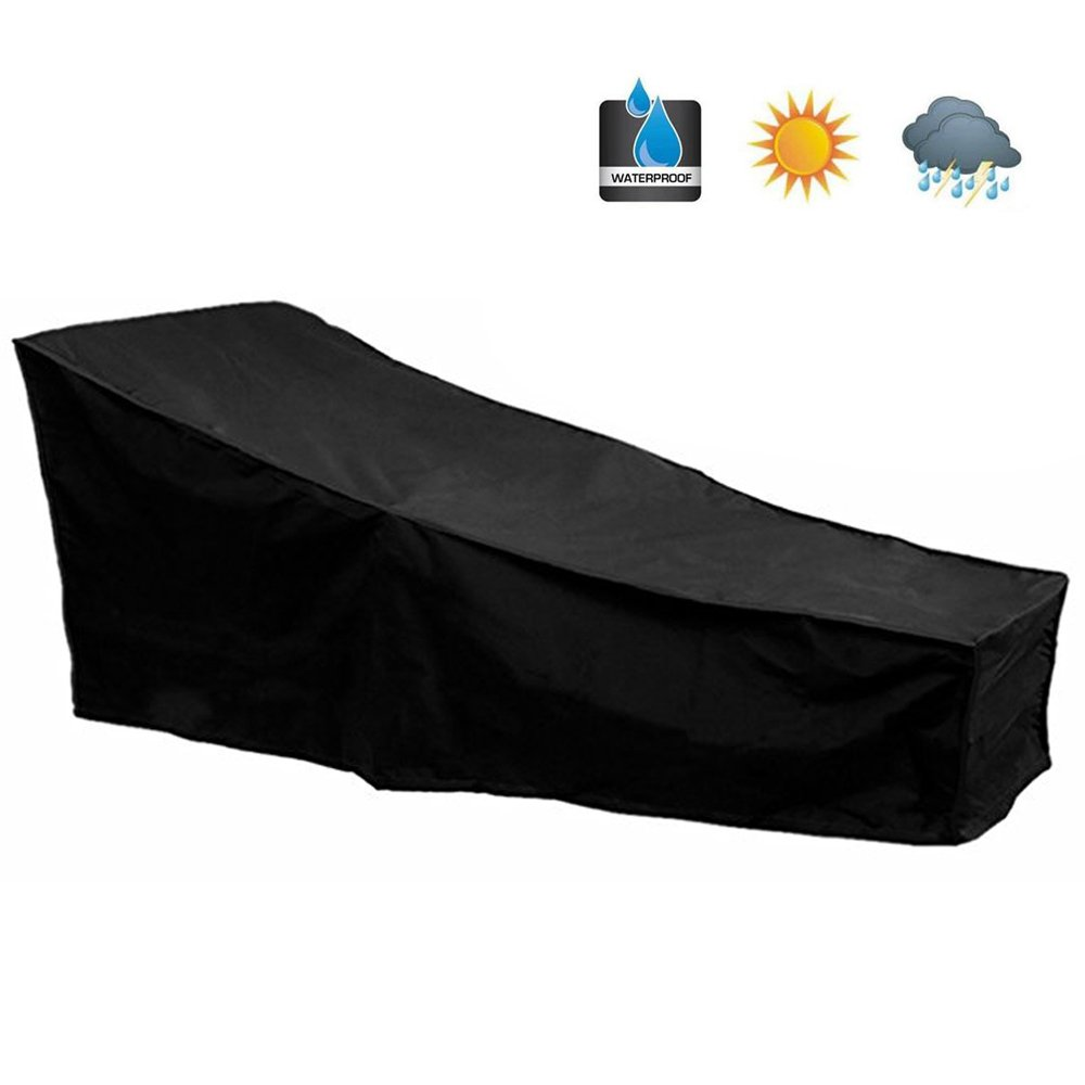 """Hootech Patio Chaise Lounge Cover Heavy Duty Outdoor Lounge Chair Covers Protector Waterproof Lightweight 82""""Lx30""""Wx31""""H"""