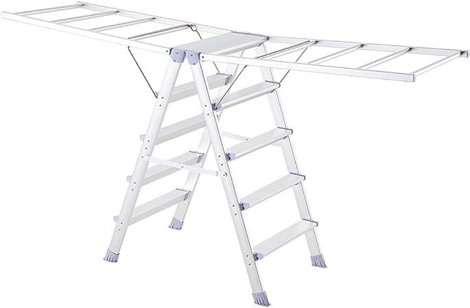 RTTyj Rejilla de Secado Tendedero Plegable de Aluminio, tendedero, tendedero, Escalera, secador de Aire multifunción, fácil de Instalar (Color : A): Amazon.es: Hogar