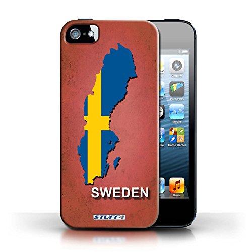 Kobalt® Imprimé Etui / Coque pour Apple iPhone 5/5S / Suède/Suédois conception / Série Drapeau Pays
