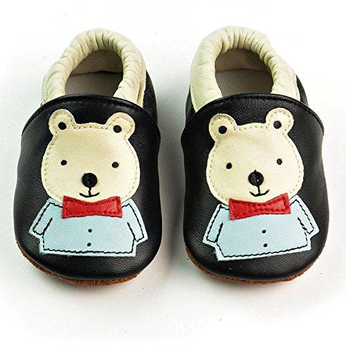 Vesi-Zapatos para bebé Primeros Pasos Zapatillas Infantiles para Niño/Niña Antideslizante Respirable Rosa Talla XL:18-24 Meses Oso