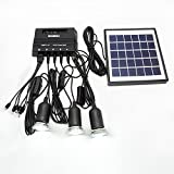 yiyusheng High-capacity Portable Mobile Solar Power Light System with 3 LED light Lamps, Solar panel for Garden Camping Use