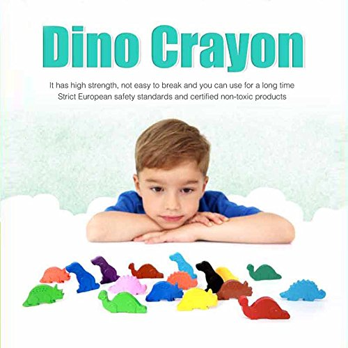 Dong-a Toru Dino Crayon Non-smudge Enjoyable 4 dinosaur-shaped crayons 12 colors