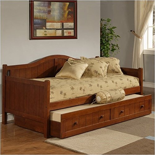 Trundle Cherry Daybed (BOWERY HILL Wood Daybed in Cherry Finish with Trundle)