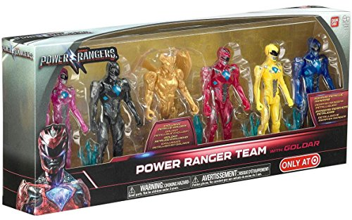 Bandai Collectible Power Rangers Team 6-Piece Set With Exclu