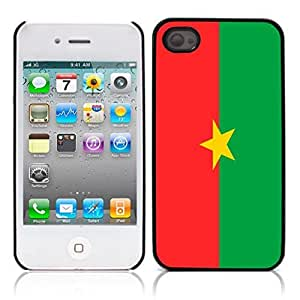 Burkina Faso Hard Plastic and Aluminum Back Case for Apple iphone 4 4S