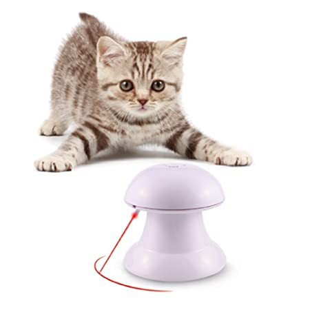 Wanfei - Juguete Interactivo para Gatos con luz giratoria automática para Gatos, Juguetes para Mascotas