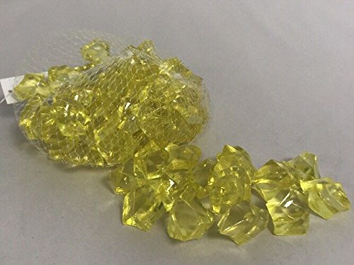Acrylic Yellow Crystal Gems Table Scatter, Vase Filler, Aquarium Rock (Balloons Day Same Send)