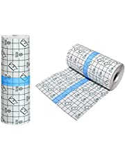 Tattoo Aftercare Waterproof BandageTransparent Film Dressing Second Skin Healing Protective Clear Adhesive Bandages Tattoo AIMEET Supplies Tattoo Bandage Roll (6 in x 5 yard), 5M