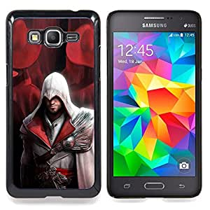 "Qstar Arte & diseño plástico duro Fundas Cover Cubre Hard Case Cover para Samsung Galaxy Grand Prime G530H / DS (Assassin Pirata"")"