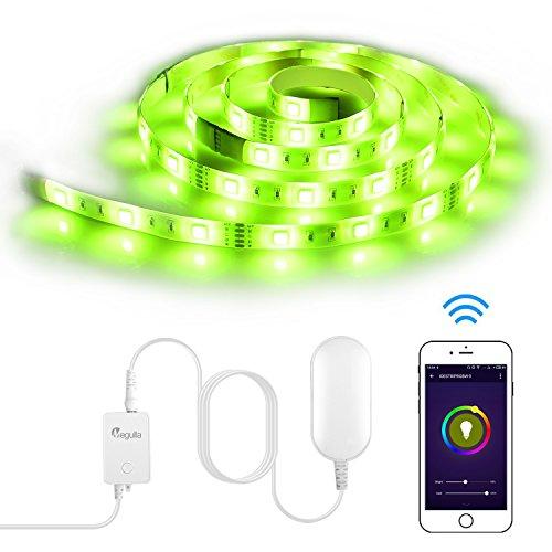 Megulla Smart Wi-Fi RGBW LED Light Strip with App Control, D