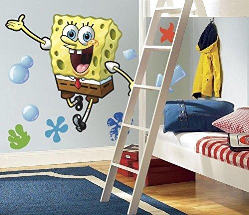 Defonia Spongebob Squarepants Giant Wall Decals Room Decor Stickers Nickelodeon - Murals Spongebob Wall