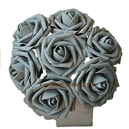 Amazon rina 50 pcs artificial flowers foam roses various colors rina 50 pcs artificial flowers foam roses various colors for bridal bouquet bouquets wedding centerpieces kissing mightylinksfo
