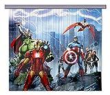 AG DESIGN Marvel Avengers Thor Curtains, Multi-Colour, 180 x 160/90 x 160 cm