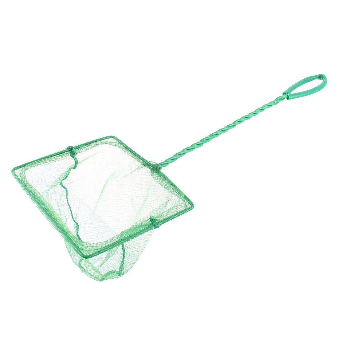 1Pc Plastic Household Coated Handle goldfish Fishing Landing Net Green for Fish Tank