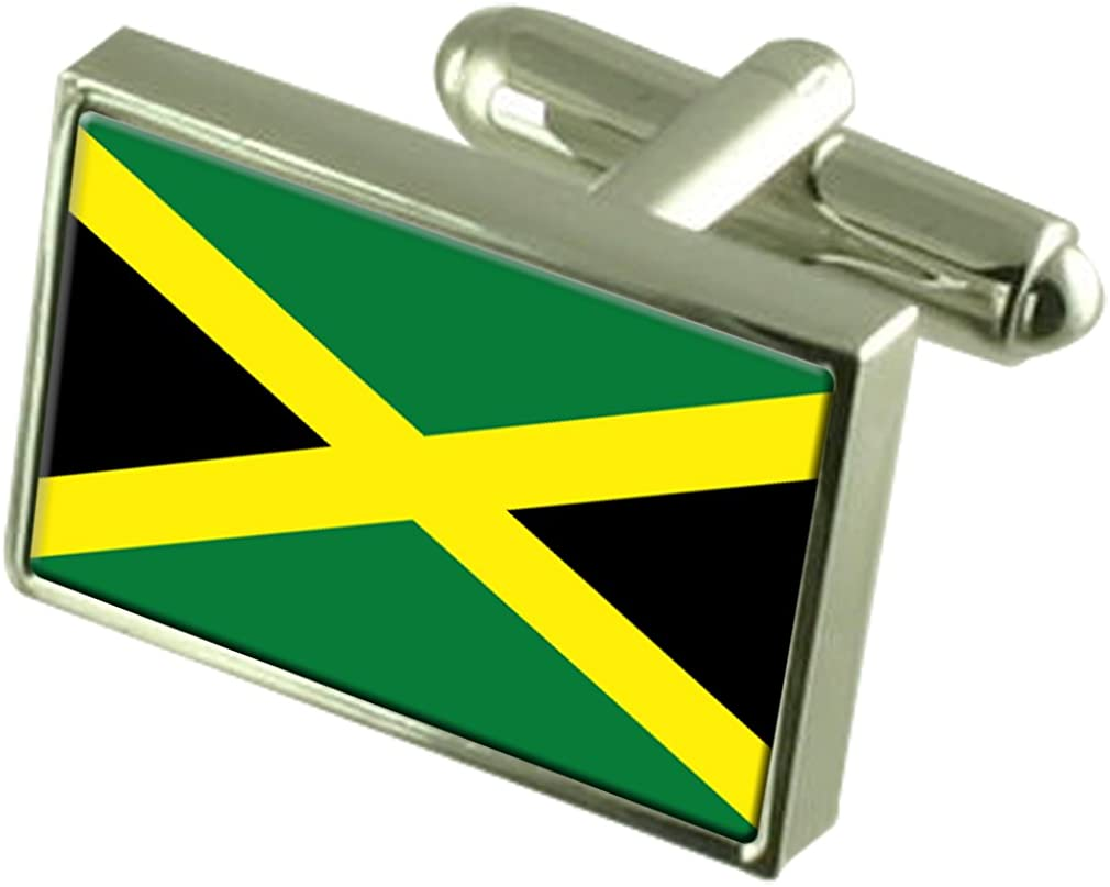 Jamaica Sterling Silver Flag Cufflinks