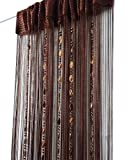 ave split 100cmX200cm Decorative Door String Curtain Beads Wall Panel Fringe Window Room Divider Blind for Wedding Coffee House Restaurant Parts Door Divider Beads Tassel Screen Decoration (coffee2)
