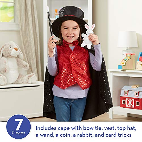 Melissa & Doug 96025 Magician Role Play Costume Set - Includes Hat, Cape, Wand, Magic Tricks Frustra - http://coolthings.us