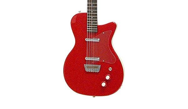 Danelectro 56 Reissue barítono - Guitarra eléctrica, color rojo: Amazon.es: Instrumentos musicales