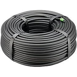 "Rain Bird T22-250S Drip Irrigation 1/4"" Blank Distribution Tubing, 250' Roll, Black"