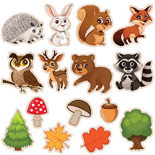 Woodland Baby Shower Party Supplies - 23 Forest and Animals Figures Decorations for Woodland Creatures Party or Nursery -