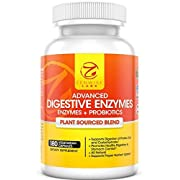 #LightningDeal 90% claimed: Digestive Enzymes Plus Prebiotics & Probiotics - Natural Gluten Free Support - For Better Digestion & Lactose Absorption - For Bloating & Gas Relief + Helps IBS & Leaky Gut