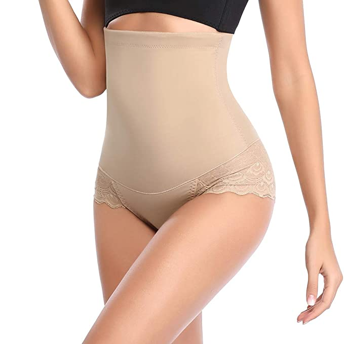 23d97a49f41 Invisable Body Shaper High Waist Tummy Control Panty Slim Butt Lifter Waist  Trainer (Beige-