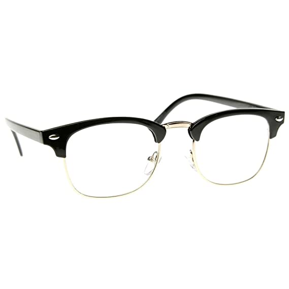 Emblem Eyewear® - Premium Half Frame Horn Rimmed Remaches De Metal Gafas De Sol (