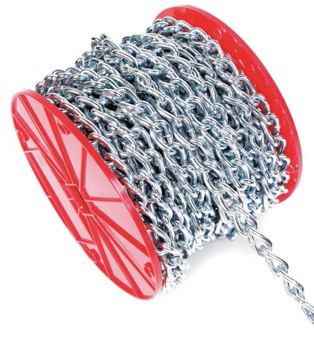 Koch 717926 Machine Twist Chain, Trade Size 2/0 by 75 Feet, Zinc plated