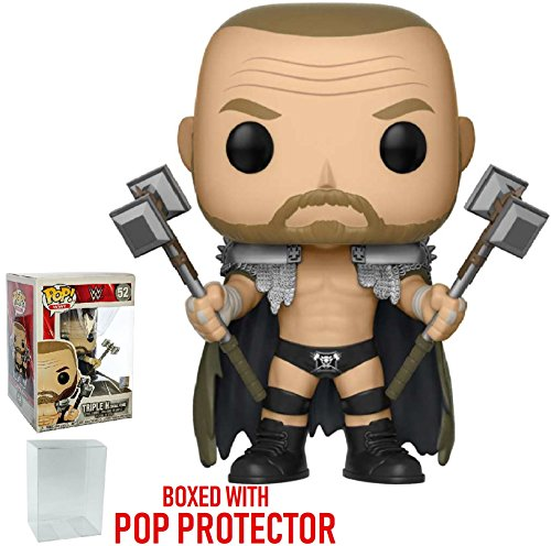 Funko Pop! WWE: Triple H Skull King Vinyl Figure (Bundled with Pop Box Protector Case) by Funko