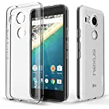 Nexus 5X Case, PLESON [Tou] LG Nexus 5X Clear Case Cover, Crystal Clear/Dotted Slim Fit/Lightweight/Exact Fit/NO Bulkiness Clear back panel+Soft TPU Protective bumper Case for Google Nexus 5X (2015)