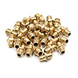 uxcell 30Pcs M8 x 1 Thread Brass Straight Grease Zerk Nipple Fitting for Auto Car