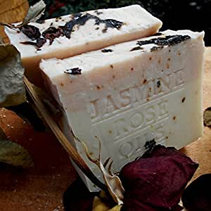 All Natural French Jasmine Soap with Rose Oil (Bath & Body Soap) 7 oz