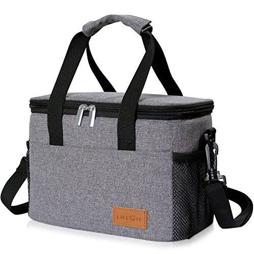 Cheap  Lifewit Insulated Lunch Box, Lunch Bento Bag for Adults Men, Thermal Bento..