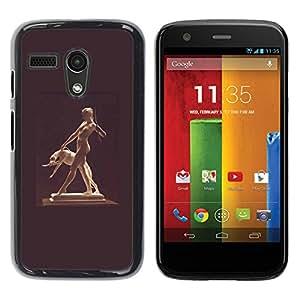 """For Motorola Moto G ( 1st Generation ) Case , Estatua Mujer Desnuda Desnuda perro antiguo Dios"""" - Diseño Patrón Teléfono Caso Cubierta Case Bumper Duro Protección Case Cover Funda"""