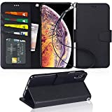 iPhone Xs Max Case, Arae PU Leather Wallet case [Stand Feature] with Wrist Strap and [4-Slots] ID&Credit Cards Pocket for iPhone Xs Max 6.5″ – Black Review