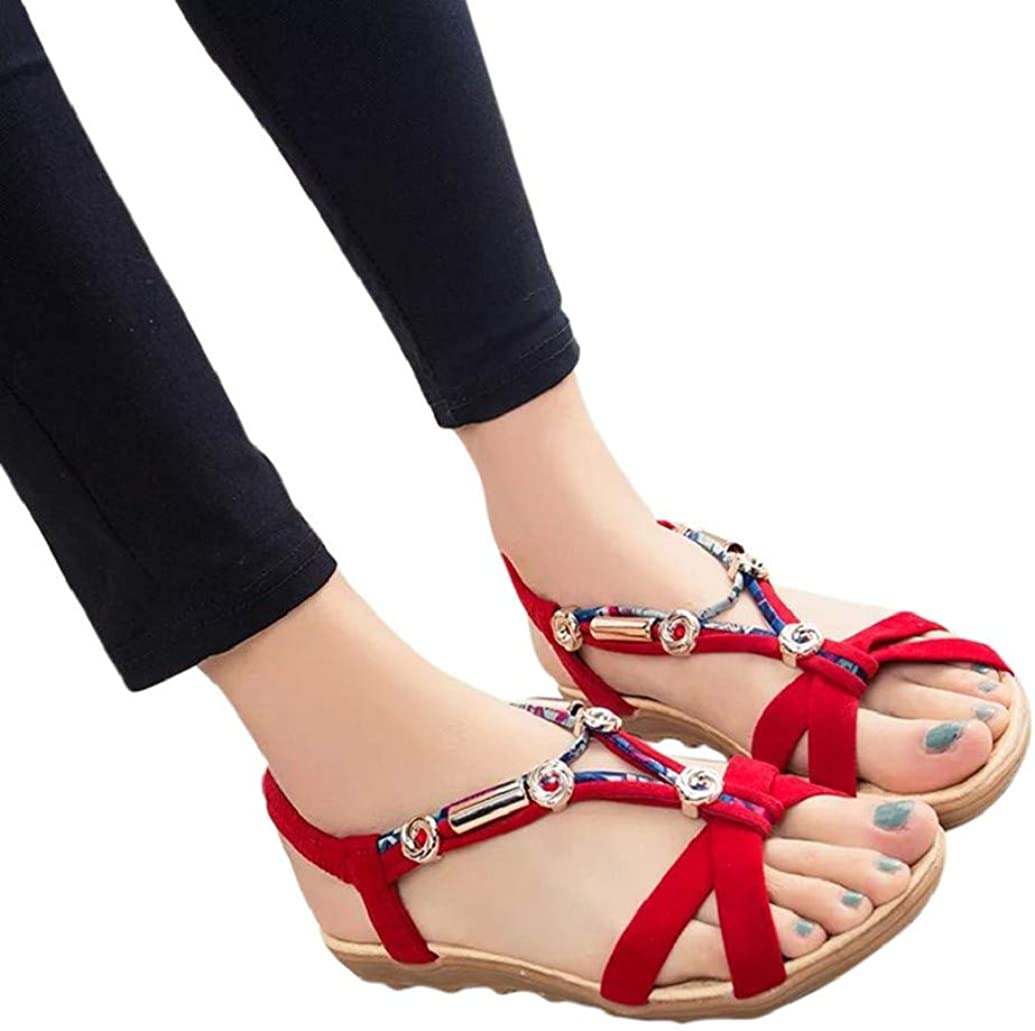 LONUPAZZ Sandales Plates Femme, Chaussures De Ville ÉTé en